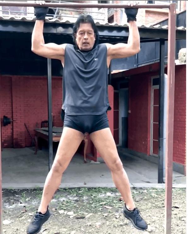 Rajesh Hamal Doing Daily Exercise During Lockdown